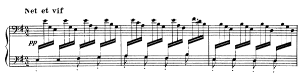 Jardins sous la pluie  No. 3  in E Minor by Debussy piano sheet music