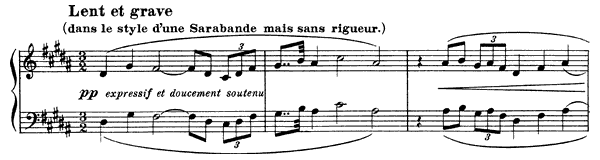 Hommage à Rameau  No. 2  in G-sharp Minor by Debussy piano sheet music