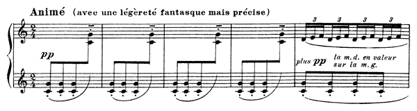 Mouvement  No. 3  in C Major by Debussy piano sheet music