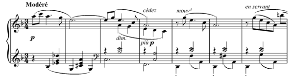 Page d'album   in F Major by Debussy piano sheet music