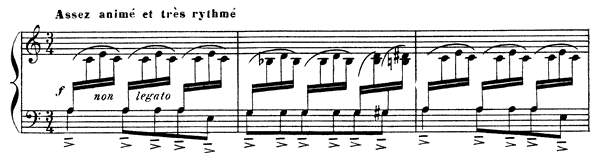 Prelude  No. 1  in A Minor by Debussy piano sheet music