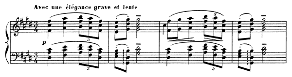 Sarabande  No. 2  in C-sharp Minor by Debussy piano sheet music