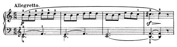Piano Piece Op. 125 No. 6  in C Major by Diabelli piano sheet music