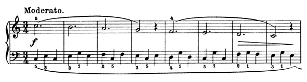 Piano Piece Op. 76 No. 2  in C Major by Döring piano sheet music