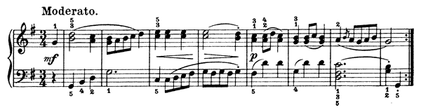 Minuet   in G Major by Dussek piano sheet music