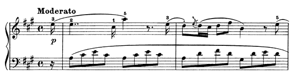Sonatina Op. 20 No. 4  in A Major by Dussek piano sheet music