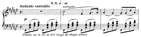 Ballade Op. 19  in F-sharp Major by Fauré piano sheet music
