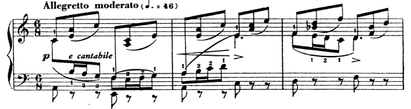 Barcarolle 1 Op. 26  in A Minor by Fauré piano sheet music