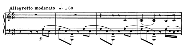 Barcarolle 10 Op. 104 No. 2  in A Minor by Fauré piano sheet music