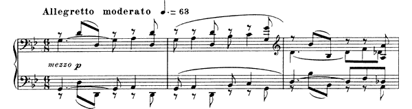 Barcarolle 11 Op. 105  in G Minor by Fauré piano sheet music