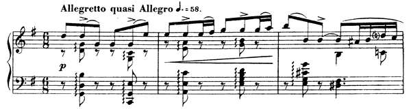 Barcarolle 2 Op. 41  in G Major by Fauré piano sheet music