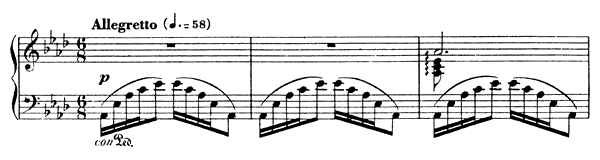 Barcarolle 4 Op. 44  in A-flat Major by Fauré piano sheet music