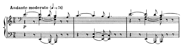 Barcarolle 9 Op. 101  in A Minor by Fauré piano sheet music