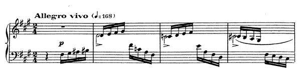 Impromptu 5 Op. 102  in F-sharp Minor by Fauré piano sheet music