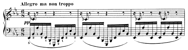 Impromptu 1 Op. 25  in E-flat Major by Fauré piano sheet music