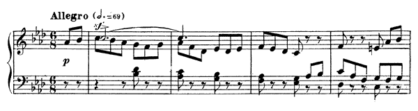 Impromptu 2 Op. 31  in F Minor by Fauré piano sheet music