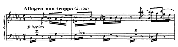 Impromptu 4 Op. 91  in D-flat Major by Fauré piano sheet music