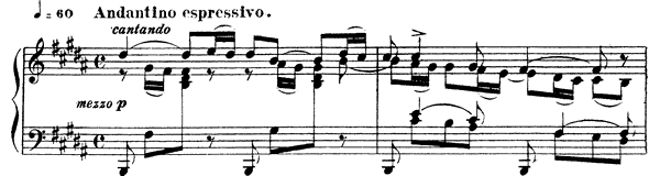 Nocturne 2 Op. 33 No. 2  in B Major by Fauré piano sheet music