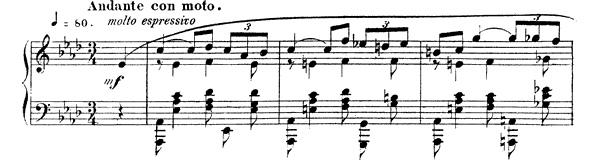 Nocturne 3 Op. 33 No. 3  in A-flat Major by Fauré piano sheet music