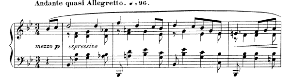 Nocturne 5 Op. 37  in B-flat Major by Fauré piano sheet music