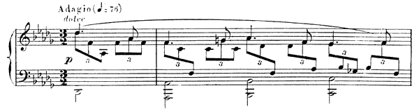 Nocturne 6 Op. 63  in D-flat Major by Fauré piano sheet music