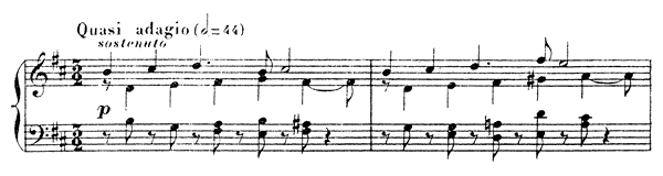 Nocturne 9 Op. 97  in B Minor by Fauré piano sheet music