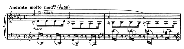 Prelude Op. 103 No. 1  in D-flat Major by Fauré piano sheet music