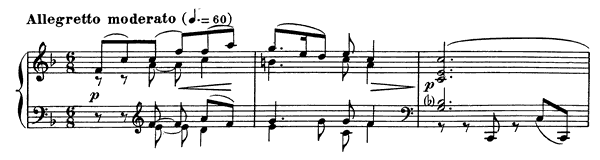 Prelude Op. 103 No. 4  in F Major by Fauré piano sheet music