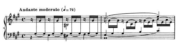 Prelude Op. 103 No. 7  in A Major by Fauré piano sheet music