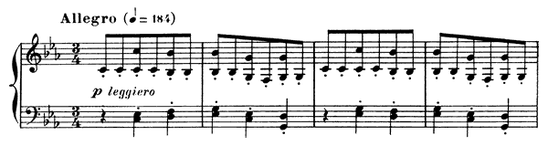 Prelude Op. 103 No. 8  in C Minor by Fauré piano sheet music