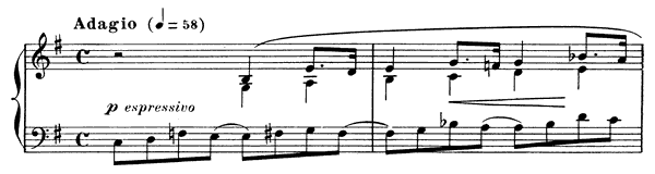 Prelude Op. 103 No. 9  in E Minor by Fauré piano sheet music