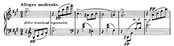 Waltz-Caprice 1 Op. 30  in A Major by Fauré piano sheet music