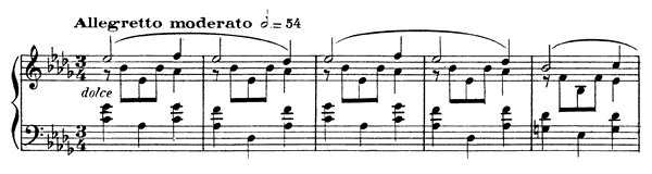 Waltz-Caprice 2 Op. 38  in D-flat Major by Fauré piano sheet music