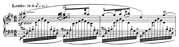 Nocturne  No. 12  in G Major by Field piano sheet music