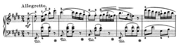 Nocturne  No. 18  in E Major by Field piano sheet music