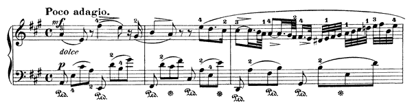 Nocturne  No. 4  in A Major by Field piano sheet music