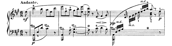 Nocturne  No. 8  in A Major by Field piano sheet music