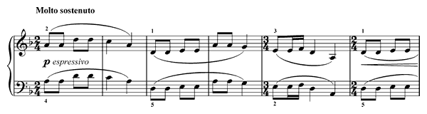 Song from the Cruese  No. 16  in D Minor by Franck piano sheet music