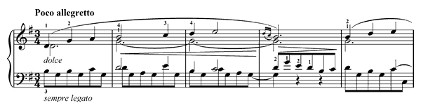 Song from Béarn  No. 44  in G Major by Franck piano sheet music