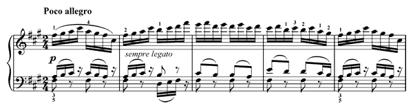 Poco allegro  No. 47  in F-sharp Minor by Franck piano sheet music