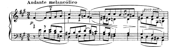 Quejas ó la maja y el ruiseñor  No. 4  in F-sharp Minor by Granados piano sheet music
