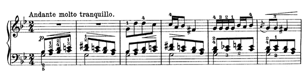 Cradle Song Op. 66 No. 15  in G Minor by Grieg piano sheet music
