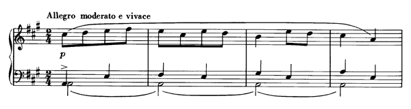 No. 5 Halling   in A Major by Grieg piano sheet music
