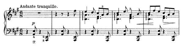 In Ola Valley, In Ola Lake Op. 66 No. 14  in A Major by Grieg piano sheet music