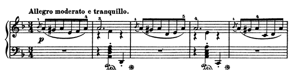 From Early Years Op. 65 No. 1  in D Minor by Grieg piano sheet music
