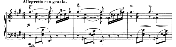 Salon Op. 65 No. 4  in A Major by Grieg piano sheet music