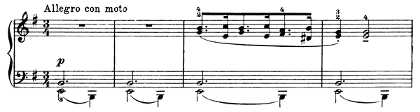 Popular Melody Op. 38 No. 2  in E Minor by Grieg piano sheet music