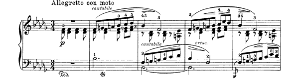 Kanon Op. 38 No. 8  in B-flat Minor by Grieg piano sheet music