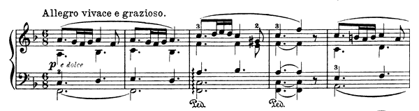 Album Leaf Op. 47 No. 2  in F Major by Grieg piano sheet music