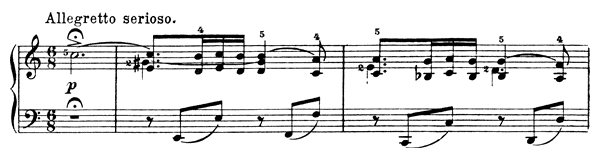 Illusion Op. 57 No. 3  in A Minor by Grieg piano sheet music
